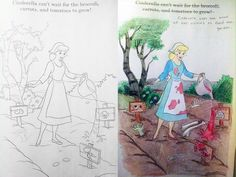 Zombie Princess Coloring Pages : My first coloring book corruption. this just screamed zombie