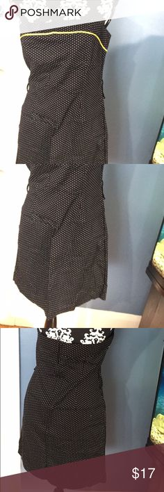 Strapless Polka Dots Black Charlotte Russe Dress Strapless Small Polka Dots Black Charlotte Russe Dress. NWOT. Never worn. Comes with a belt. Size L. Charlotte Russe Dresses Strapless