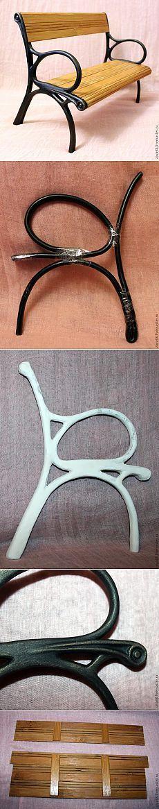 Скамейка для куклы своими руками. МК: