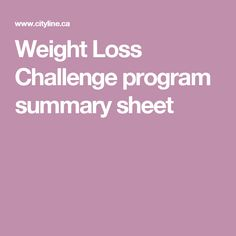 2017 cityline weight loss challenge summary sheet fast weight loss pinterest weight loss challenge weight loss and fat