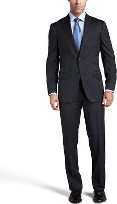 Ermenegildo Zegna Multiseason Two-Button Suit, Gray Expensive Suits, Mode Masculine, Suit Jacket, Vogue, Buttons, Grey, Long Sleeve, Sleeves, Pants