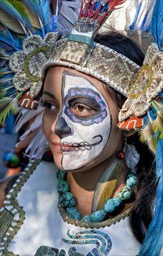 Dia de los Muertos. México. #Gent #People #Faces