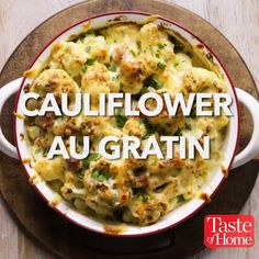 Cauliflower Au Gratin Recipe