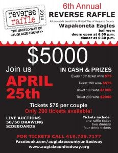 Reverse Raffle Flyer 1 | Wolf Creek Ideas | Pinterest | Flyers ...
