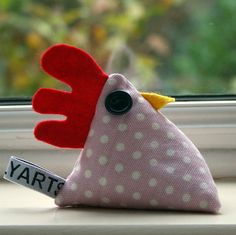 Cheeky Chicken Pin Cushion Or Paperweight