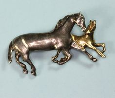 Wild Horses.. https://www.etsy.com/listing/239281959/horse-and-colt-brooch-mixed-metal