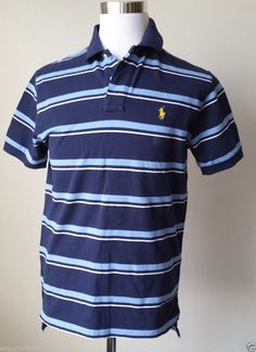 Ralph Lauren Fashion Leisure Breathable White Collar Stripe Polo