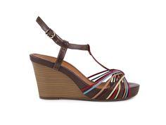Tamaris Pohodlné páskové sandály na klínku a platformě 1-28382-20 / mnohobarevná
