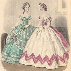 an 1860s ball gown in my favorite colors. awesome. This is going on the 'to make someday' list....