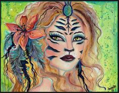Aceo print 2.5x3.5inches shapeshifter by TheArtOfReneeLLavoie