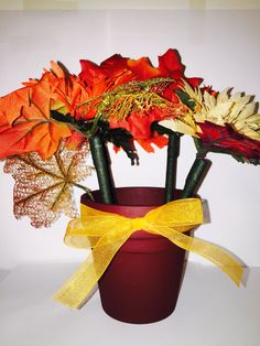 Autumn pen pot $13.00