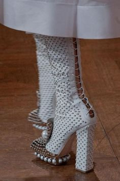 studded lace up #boots from #AlexanderMcQueen A/W '13 #PFW