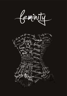 Feminity Poster by Pati Smus, via Behance    Not even a real word. Cray cray people.