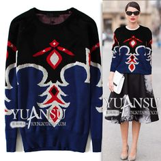 Find More Information about Yuansu Store new 2014 National trend color block decoration graphic geometric patterns women's fashion pullover sweater,High Quality pullover sweater pattern,China sweater womens Suppliers, Cheap pullover cashmere from yuansu  on Aliexpress.com