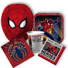 Spiderman Party Supplies: Spiderman Birthday Invitations, Party Favors, and Decorations