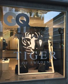 """Mode-Kampagne Herbst 2016 Magazine Cover Brands Art-Direction InHouse """" Tiger of Sweden"""" and many Shops, Tiger Of Sweden, Lucerne, Art Direction, Company Logo, Window, Magazine, Cover, Fashion"""