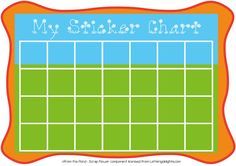 FREE printable sticker chart
