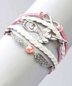 Love this Pink Ballerina Bracelet by Bubbly Bows on #zulily! #zulilyfinds