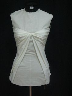 Draping on the Stand - bodice design with twist & pleat detail - fabric manipulation; sewing; dressmaking
