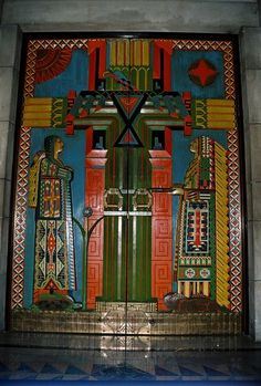 Representing the Red Man's Tree of Life, as it was named in the 1920s, these are the doors to the original Senate Chamber at the Nebraska State Capitol in Lincoln.