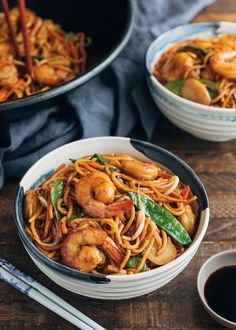 See how easy it is to make restaurant-quality Shrimp Lo Mein at home in just 30 minutes, prep to finish. Weeknight dinner made easy. Beef Ramen Recipe, Ramen Recipes, Shrimp Pasta Recipes, Asian Recipes, Dinner Recipes, Cooking Recipes, Ethnic Recipes, Dinner Ideas, Healthy Pastas