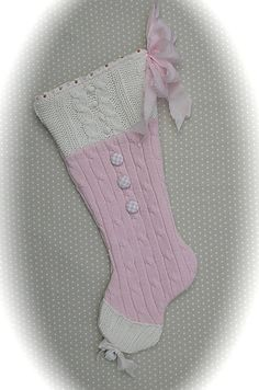 Hey, I found this really awesome Etsy listing at https://www.etsy.com/listing/206175403/upcycled-sweater-christmas-stocking-pink