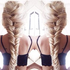 Long Blonde Braid ❁✧ Bella Montreal ✧❁