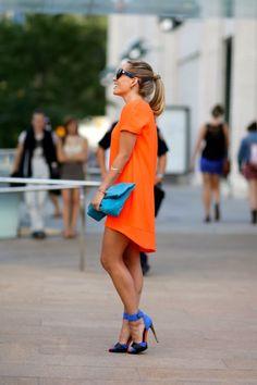 Vestido Laranja na NYFW 2013