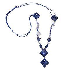 Kette, 4x Viereck blau marmoriert Dreambase http://www.amazon.de/dp/B00UCLY4EA/?m=A37R2BYHN7XPNV