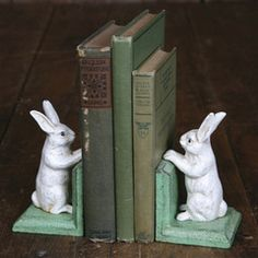 Bunny Bookends - Cast Iron