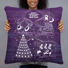 £19.60 – £21.42Basic Pillow, Cushion, Happy Christmas, New YearA strategically placed accent can bring the whole room to life, and this pillow is just what you need to do that. What's more, the soft, machine-washable case with the shape-retaining insert is a joy to have long afternoon naps on. • 100% polyester case and insert • Hidden zipper • Machine-washable case • Shape-retaining polyester insert included (handwash only) • Blank product components in the US sourced Christmas Items, Christmas And New Year, Christmas Home, Facebook T Shirt, Cushions For Sale, Afternoon Nap, No Plastic, My Happy Place, Home Decor Items