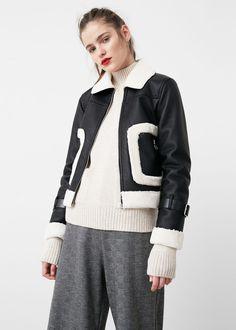 Faux fur appliqué jacket - Jackets for Woman | MANGO USA