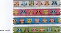 3 meters of Owls embroidery fabric ribbon by betweeneedlesandpins on Etsy, $4.95