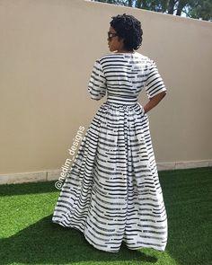 Silk Black and white Maxi Dress @Nedim_designs