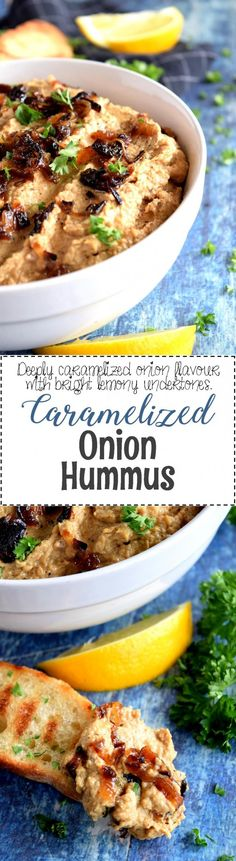 Caramelized Onion Hummus - Lord Byron's Kitchen