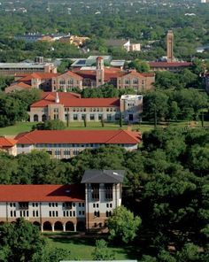 Aerial view of Rice campus