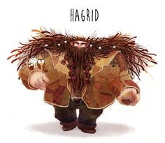 """camille-andre-book: """" Character Design Challenge : Harry Potter So here is my version of Hagrid :) """" Character Design Challenge, Character Design Animation, Character Art, Character Concept, Harry Potter Fan Art, Harry Potter Characters, Art Et Illustration, Character Illustration, Illustrations Harry Potter"""