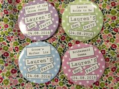 Hen Party Personalised Badge Sets of 10 | eBay