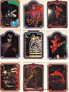 KISS swap cards from the collected mine in the Kiss Rock Bands, Kiss Band, Vintage Kiss, Retro Vintage, Kiss Merchandise, Kiss Pictures, Hot Band, Barbie, Rockn Roll