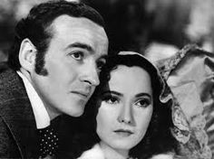 David Niven & Merle Oberon as Edgar & Catherine Linton Vintage Hollywood, Classic Hollywood, Hollywood Actresses, Actors & Actresses, Merle Oberon, William Wyler, David Niven, Wuthering Heights, Great Love