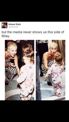 Not saying that I think everything Miley says and does is right but I do think a lot of people misjudge her and tbh I like the fact that she does what she wants without caring about what anyone thinks ! I wish I was able to do that !