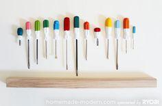 HomeMade Modern DIY EP19 Screwdriver Coat Rack Step 2