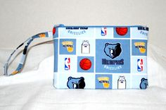 NBA Memphis Grizzlies Wristlet iPod iPhone4s by sheliawinstead, $8.00