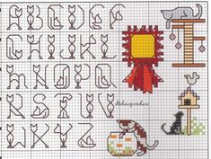 Cat alphabet cross-stitch