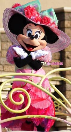 Minnie at Easter parade at Tokyo Disneyland