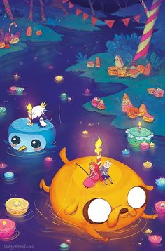 "Adventure Time Party. Poor Ice King, he's just sat there, alone, with a tiny flame. After the ""I Remember You"" episode, I like the Ice King"