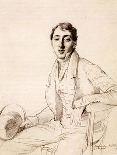 Jean Auguste Dominique Ingres (1780-1867)  Dr. Louis Martinet  Drawing