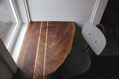 The Getaway – Tiny House Swoon. This nice desk and window across from the fridge unfortunately would need to become a hanging/storage closet for me Tiny House Luxury, Tiny House Swoon, Tiny House Living, Tiny House On Wheels, Tiny House Design, Cozy House, Bamboo Hardwood Flooring, Foam Flooring, Fiberglass Shower Stalls