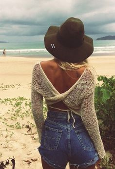 Big N-O to the cut-off denim shorts but LOVED the crossback sweater its lovely