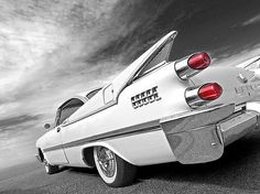 Kicking up a storm, this 1959 Dodge Custom Royal Lancer. A classic American fifties car with big tail fins #vintagecars #coolcars